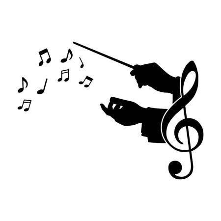 koor gids muziek, vectorillustratie