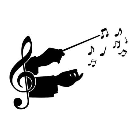 muzyka przewodnika chóru, ilustracji wektorowych