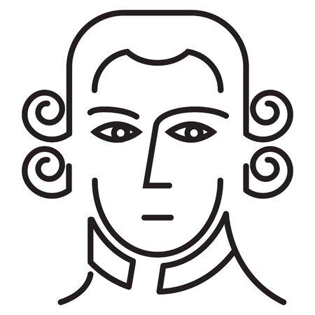 Composer icon, vector line illustration Ilustração