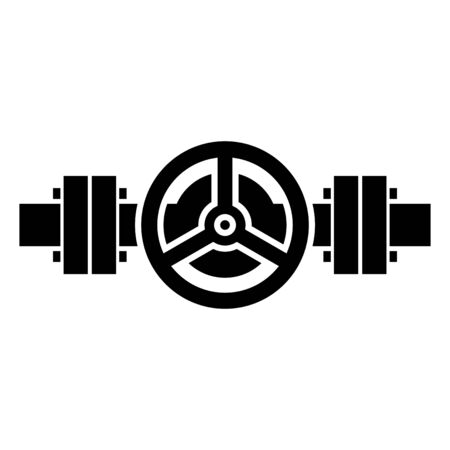 icône de vanne à guillotine de pipeline Vecteurs