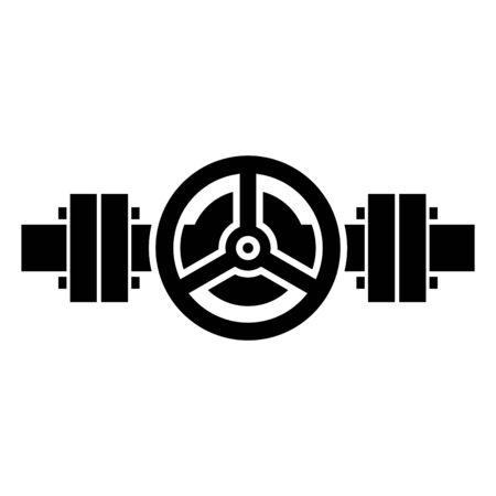 Symbol für Rohrleitungskeilschieber Vektorgrafik