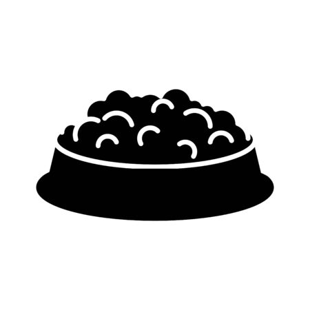 Dog bowl food icon, vector illustration Illusztráció