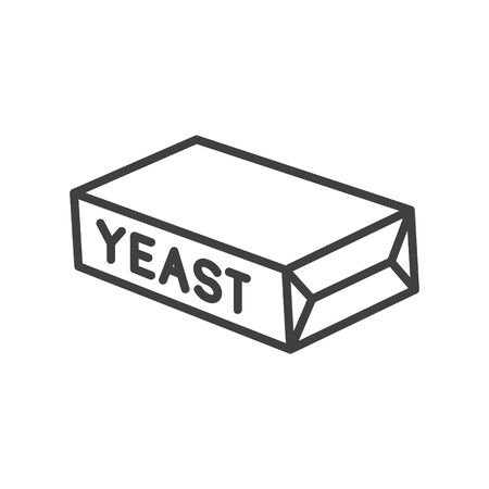 Yeast icon, vector line illustration