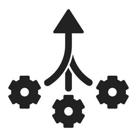 Konsolidierungssymbol, zusammengesetztes Symbol, Vektorillustration