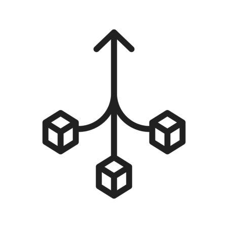 Consolidation icon, compound icon, vector illustration