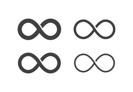 Infinite icon set, vector line illustration