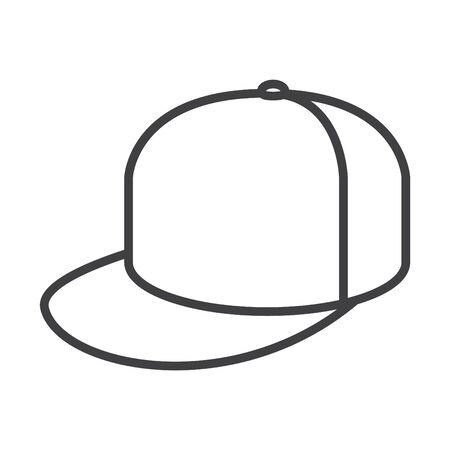 Cap icon, vector line illustration