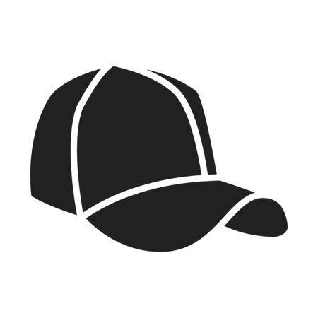 Cap icon, vector line illustration Vetores
