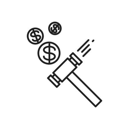Penalty icon, Thin line vector icon