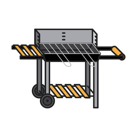 Grill icon, vector line illustration