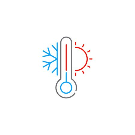 Cooling and heating system icon, vector