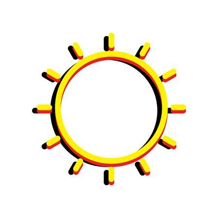 colorful sun icon, vector illustration