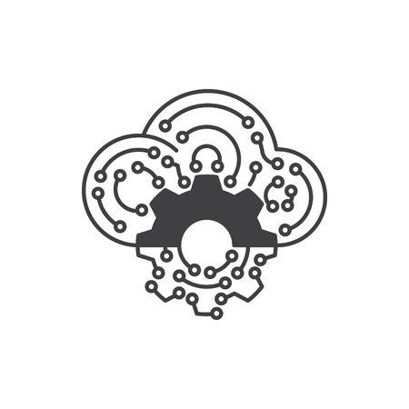 Digital technology icon, vector illustration Ilustrace