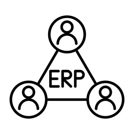 ERP system icon, vector illustration Illustration