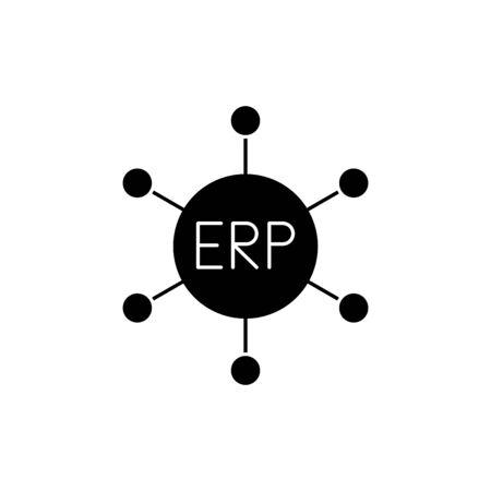 ERP system icon, vector illustration Ilustracje wektorowe