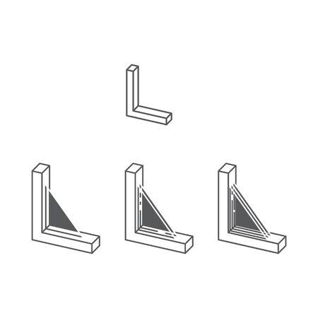 Icône de types de vitrage de fenêtre, vecteur