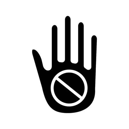 Refuse icon, vector line illustration