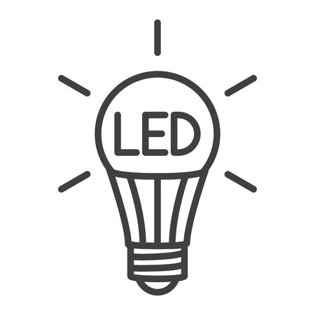 LED bulb icon, vector illustration Stock Illustratie