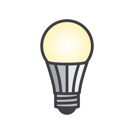 LED bulb icon, vector illustration