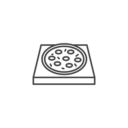 pizza stone icon, vector line illustration Banque d'images - 138283621