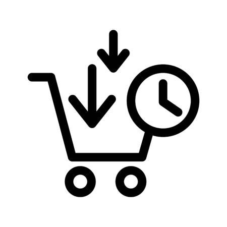 Procurement icon, vector line illustration
