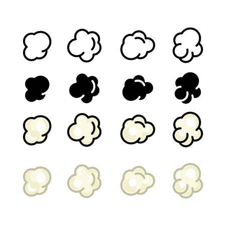 Popcorn icon, vector line illustration