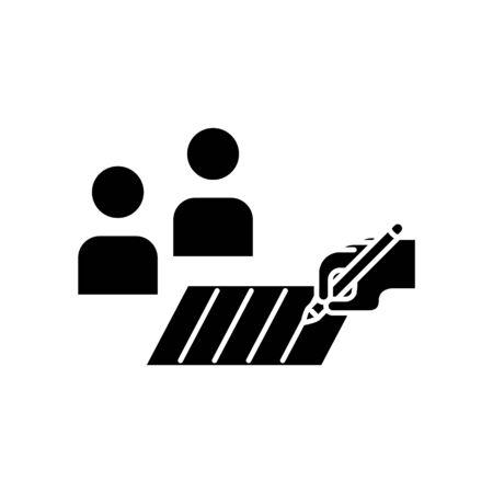 customer survey icon, vector illustration Foto de archivo - 138283822