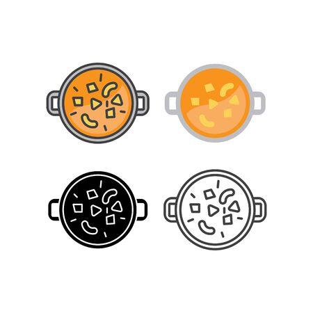 Tikka masala icon, vector line flat illustration Illustration