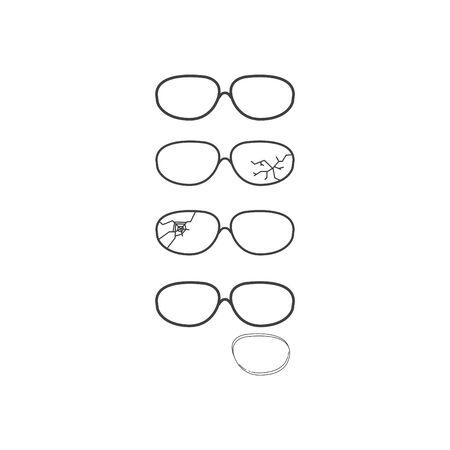Broken glasses icon, vector illustration Ilustrace