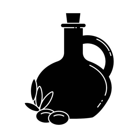 Ikona oliwy z oliwek, ilustracji wektorowych