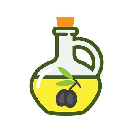 Olive oil icon, vector illustration