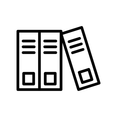 Binders icon, vector line illustration