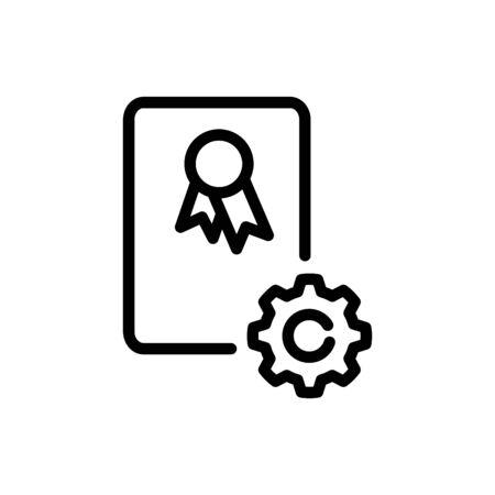 Standard icon, Certificates icon, vector illustration Foto de archivo - 138284336