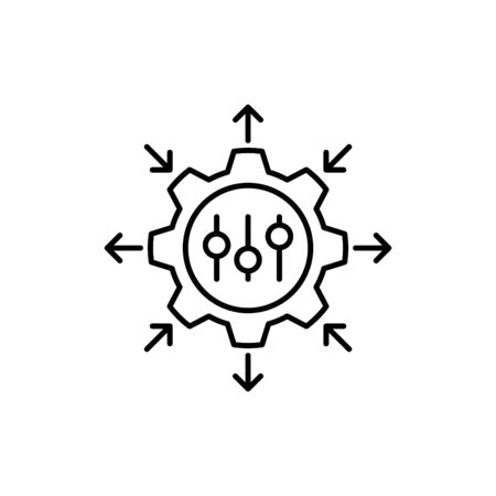 Regulierungssymbol, Geschäftssymbol, Vektor