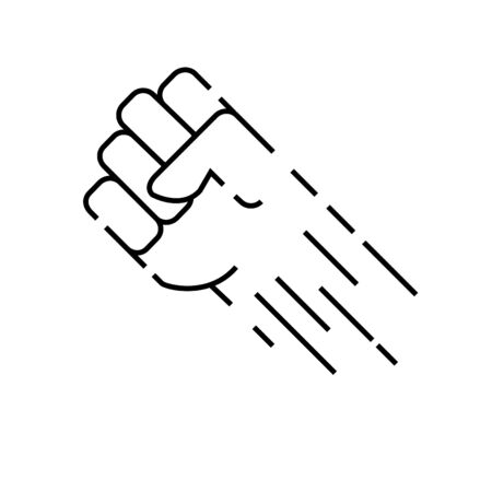 Super hand icon, Courage icon, vector illustration