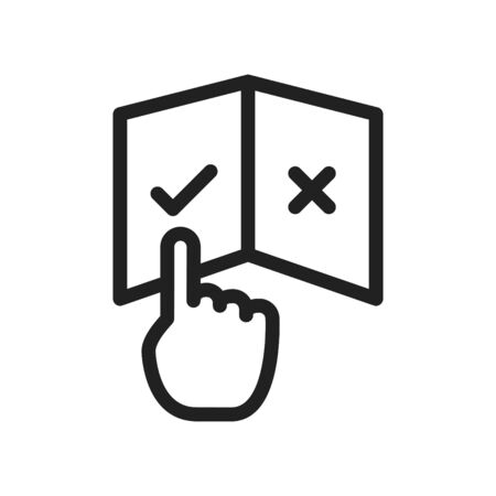 User's Manual book icon. vector illustration