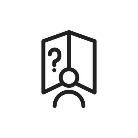 User's Manual book icon. vector illustration