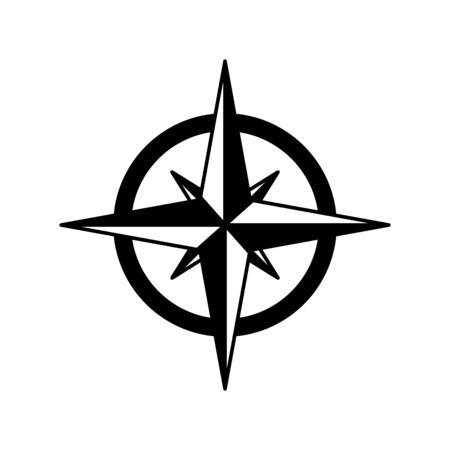 Compass icon, vector symbol illustration Ilustración de vector