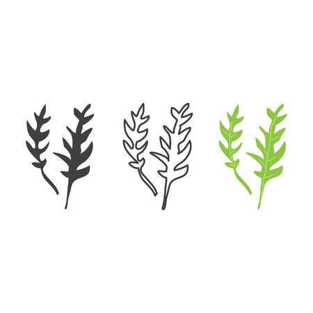 Rucola icon, vector line illustration Stock fotó - 138284433