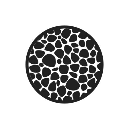 Osteoporose-Symbol, Knochenstruktur, Vektorillustration Vektorgrafik