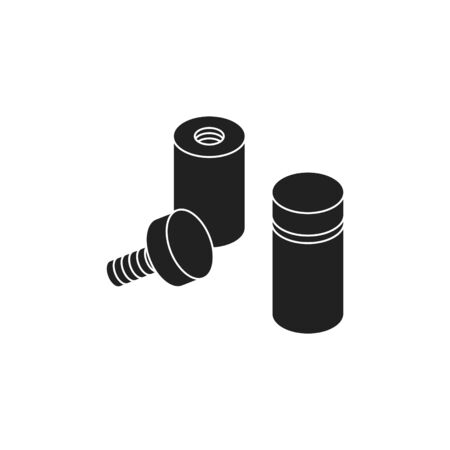 Glass Standoff Holder icon, vector illustration