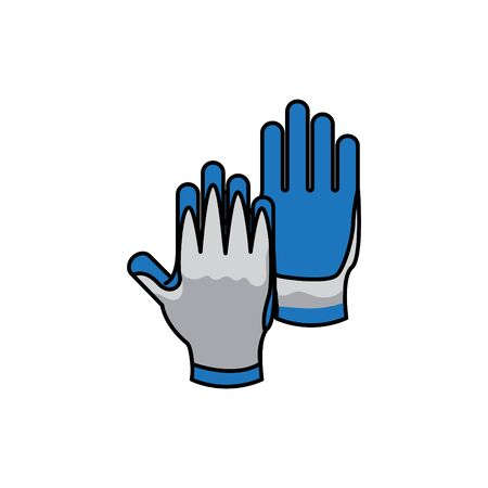Work Gloves icon, vector illustration