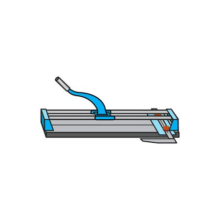 Tile Cutter icon, vector illustration