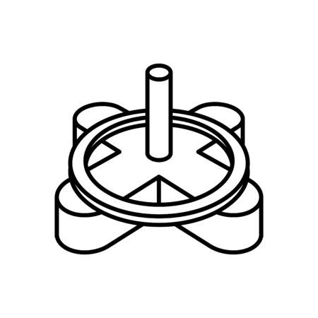 Tile Spacer icon, vector line illustration Illustration