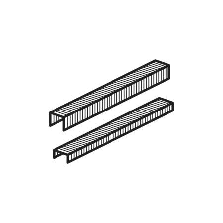 Icono de grapa, ilustración de línea vectorial