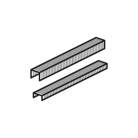 Staple icon, vector line illustration
