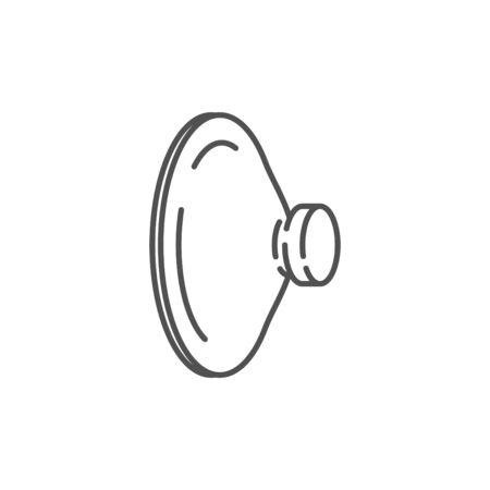 Icono de ventosa, ilustración vectorial