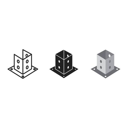 Post Base icon, vector illustration