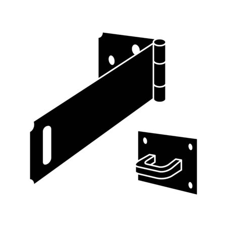 Hinge Safety Hasp icon, vector illustration
