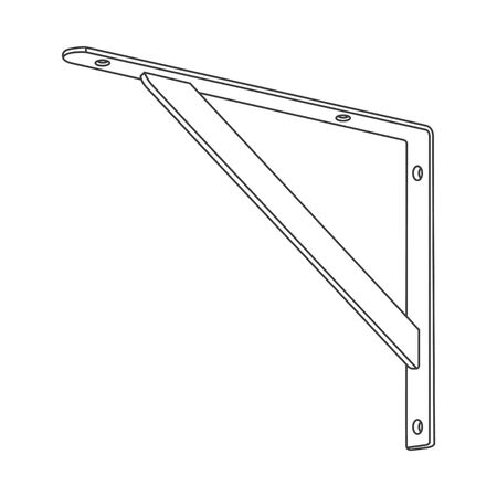 Shelf support brackets icon, vector illustration